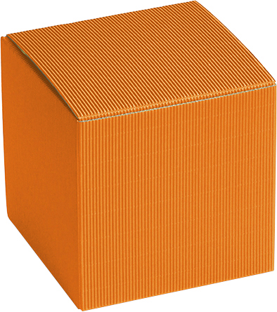 Präsentkarton 'Hamburg M' orange, 90 x 90 x 90 mm