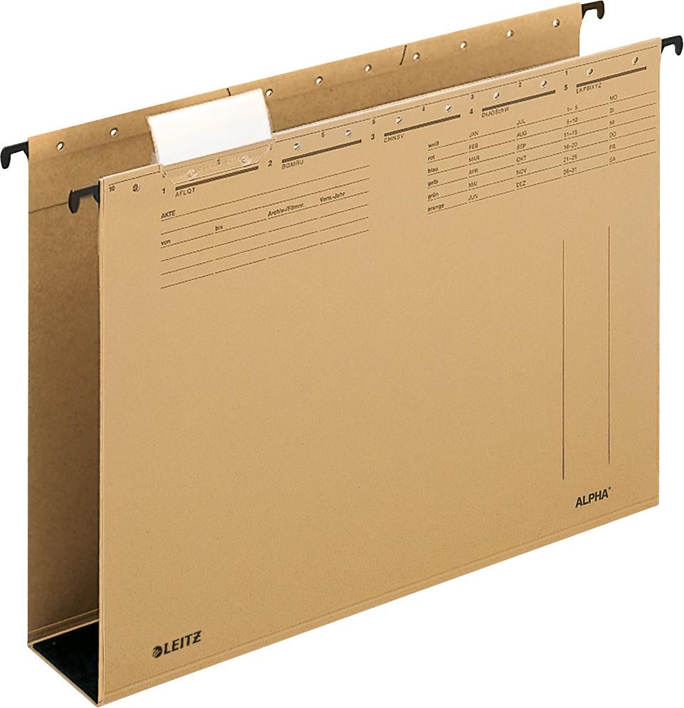 Leitz Hängetasche für DIN A4 Dokumente bis 600 Blatt Hängeregistraturen in der Farbe braun