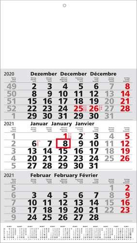 Blanko 3-Monatskalender 2021, postversandfähig