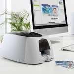 Schwarz/weißer DURACARD Kartendrucker ID 300 mit Ladekassette und Auffangschacht für die Karten 5