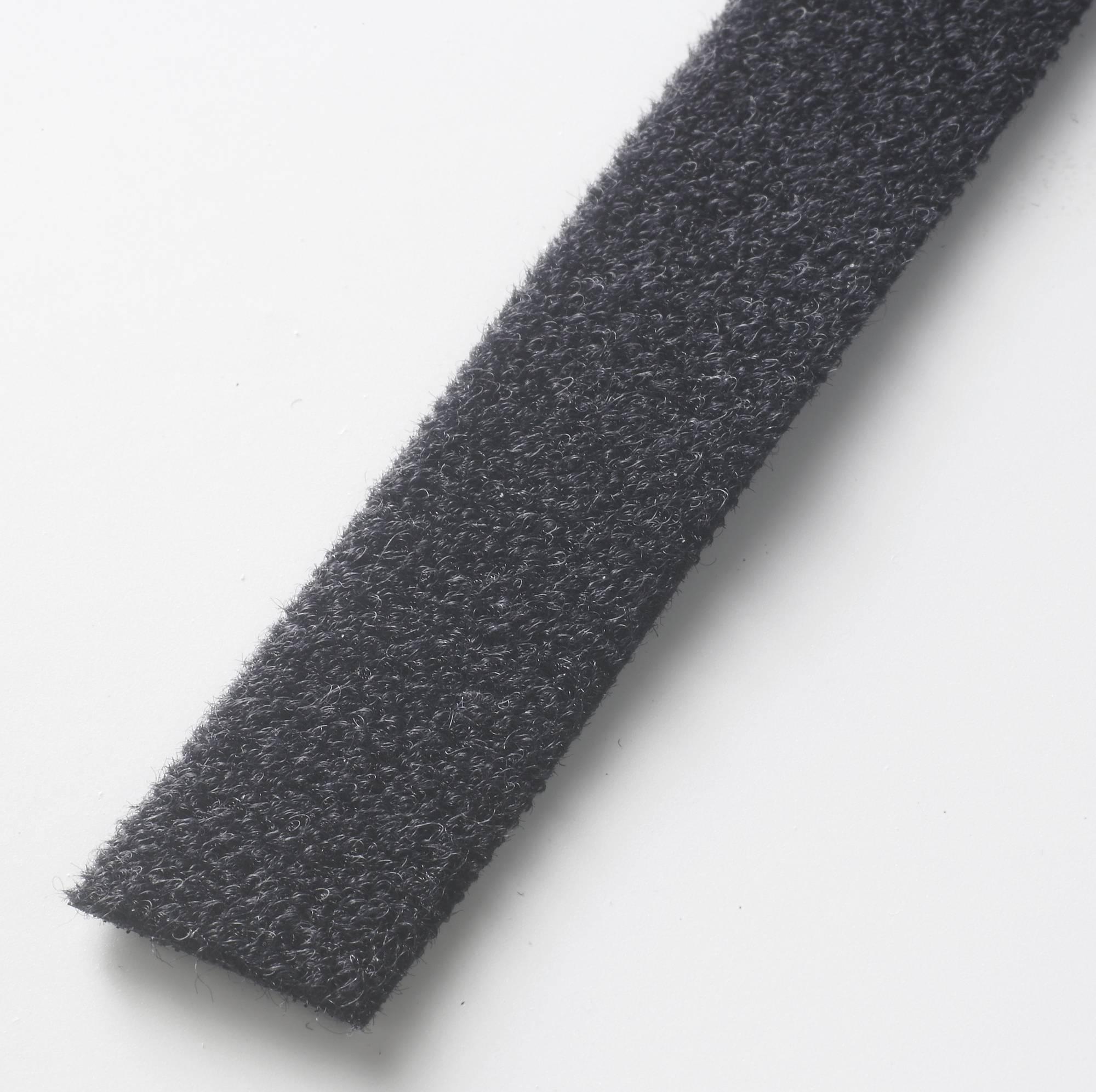 Schwarze Klettband-Rolle, 10 mm x 5 m, wieder verwendbares System, schnelles Öffnen und Schließen