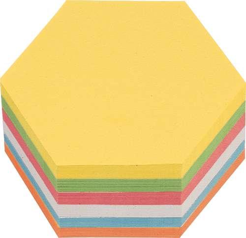 Moderationskarten Wabe, selbstklebend, 16,5 x 19 cm