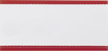 Magnet-Schild 75 x 30 mit Klarsicht-Streifen