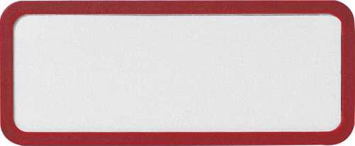 Rotes Kunststoff-Namensschild mit Magnet, 81 x 43 mm