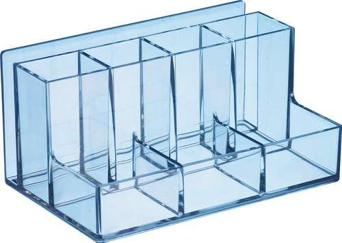 Utensilienbox aus Acryl, 8 Fächer, transparent