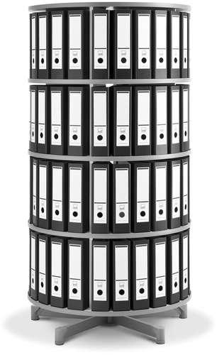 Ordner-Drehsäule, 4 Etagen Depotfile 80 cm