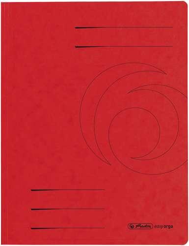Herlitz Sammelmappe A4 rot 3 Einschlagklappen Füllhöhe bis 2 cm