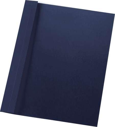 Nachtblaue Ösen-Bindemappe in DIN A4, klare Vorderfolie, 1 mm