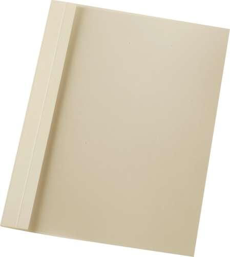 Perlweiße Ös-Mappe aus Leinen-Strukurkarton, transparent, 2 mm