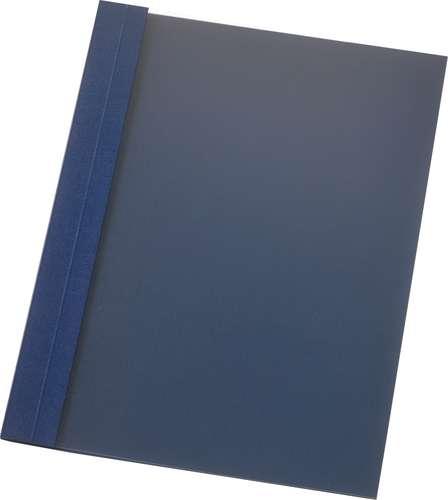 Nachtblaue Ös-Mappe aus Leinen-Strukturkarton, transparent, 6 mm
