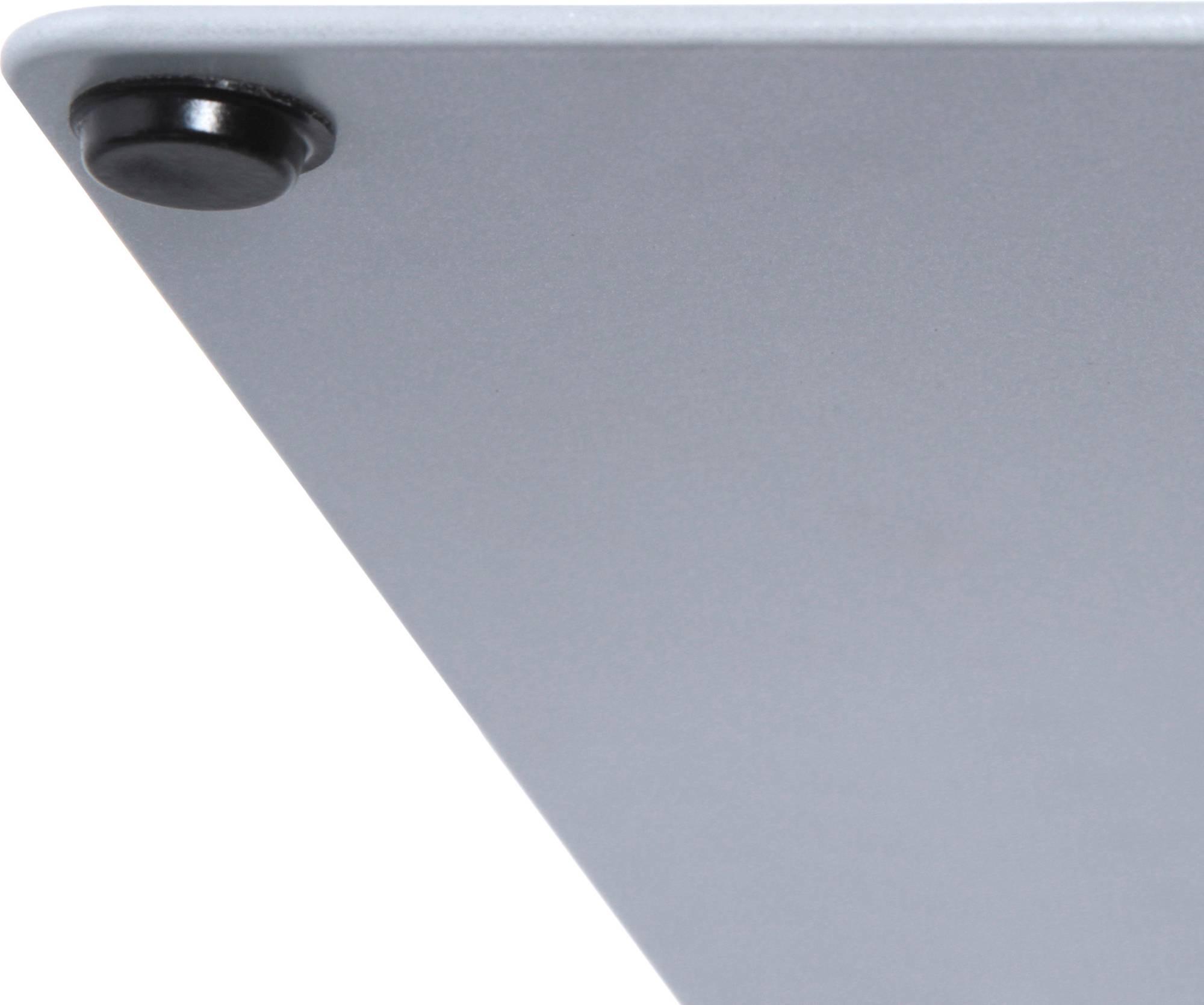 Infoständer Design COMPASSO A4, lackierte rechteckige Metallplatte mit Gummifüßen f. gute Stabilität