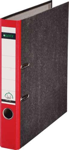 Roter Leitz Ordner 1050 im Wolkenmarmor-Design, 52 mm