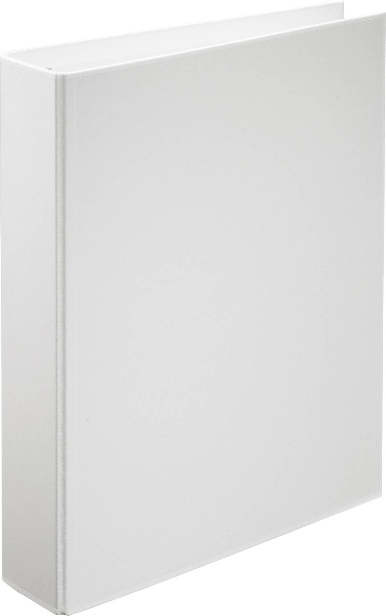 Weißer 2-Ringordner aus umweltfreundlichem Polypropylen mit Klarsichttasche, ø 30 mm