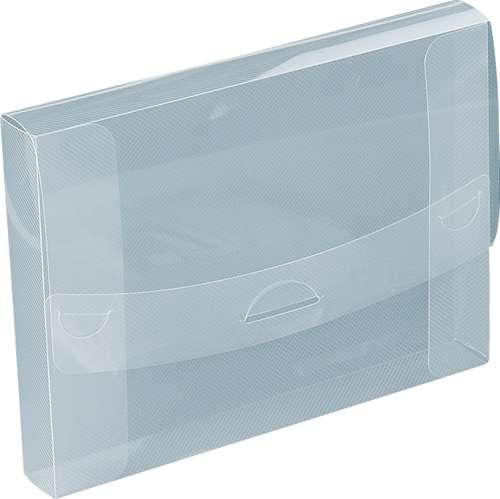 Transparente Präsentationsbox im Streifendesign