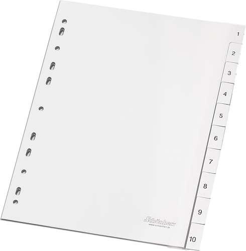 Weiße Standard-Register für A4, 1 - 10