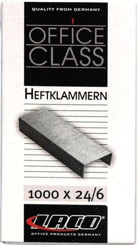 Laco Heftklammern 24/6, verzinkt, bis 25 Blatt
