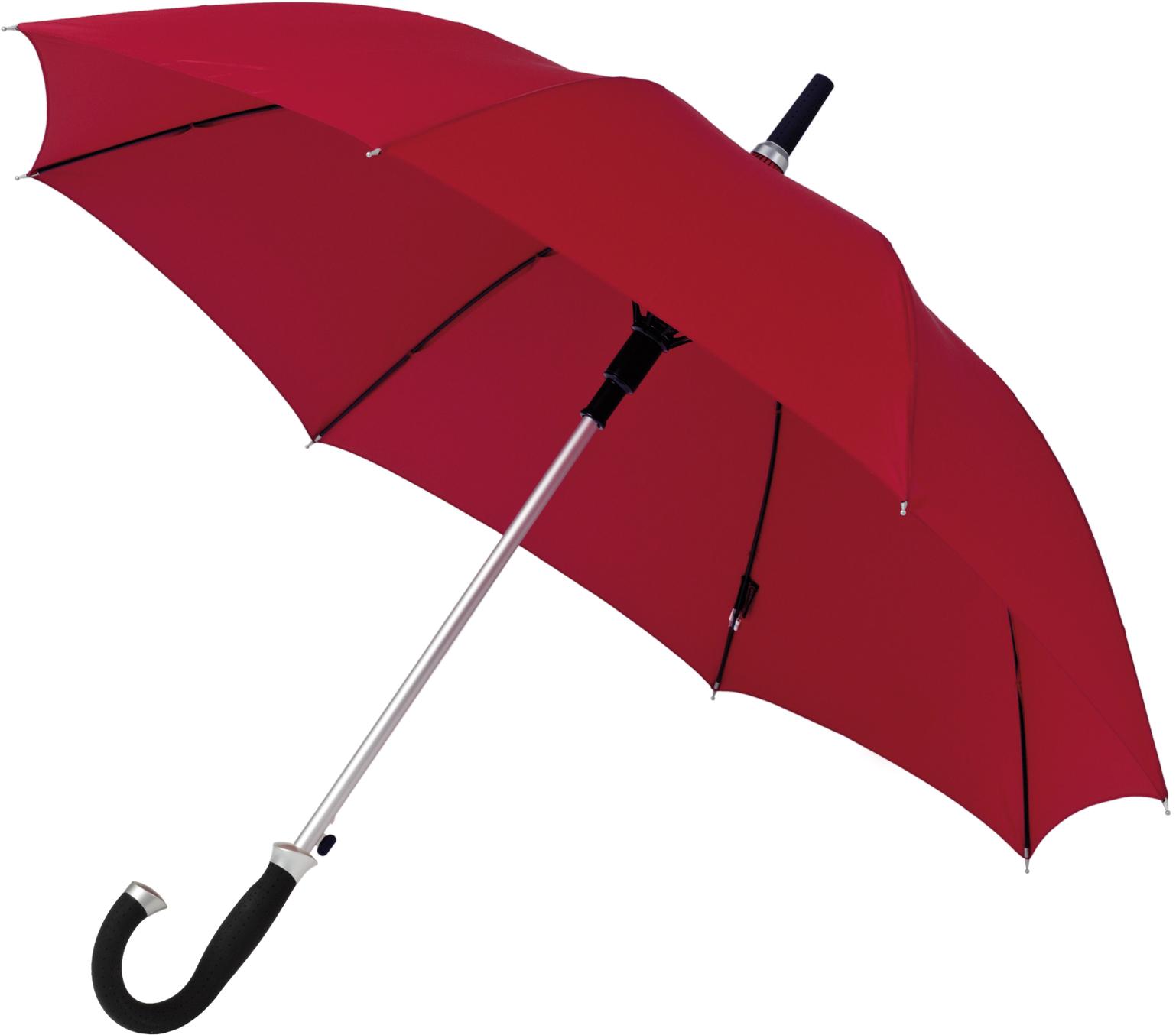 Roter, eleganter Stockschirm 'Storm', mit sicherer Automatik-Auslösetaste in 105 cm