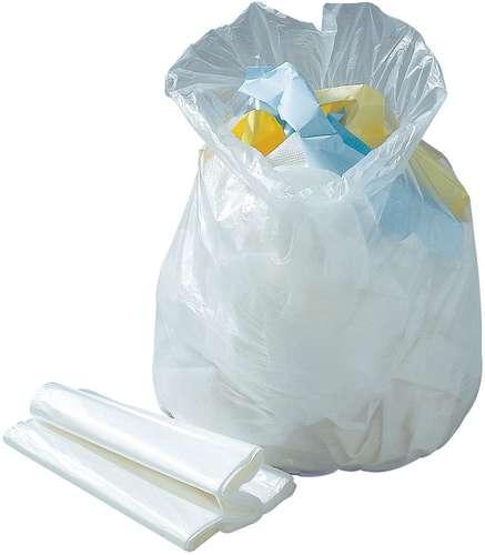 Müllsack mit 16-20 Liter Füllmenge, 8 µ, 45 x 54 cm, in der Farbe weiß, 50 Stück
