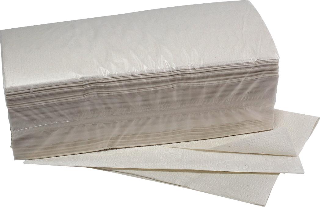 fripa Papierhandtuch Plus, 20 x 150 Blatt (3000 Blatt), naturfarben, 2-lagig im Zick-Zack-Falz