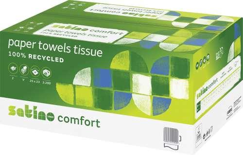 Wepa Satino Comfort Papierhandtuch, 2-lagig, Z/Z-Falz
