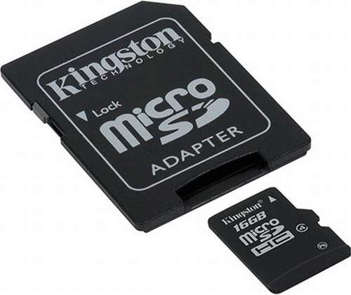 Micro-SD Card Kingston 16 GB C4 SDHC w AD
