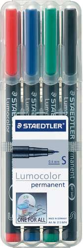 Staedtler Lumocolor permanent 0,4 mm, Farbsortiment