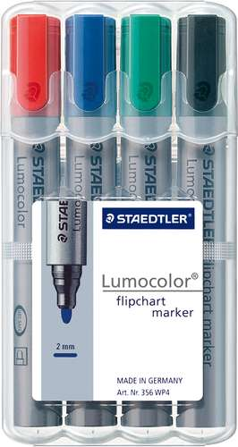 Staedtler Lumocolor Flipchartmarker, Farbsortiment 2 mm