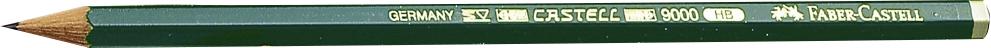 Faber-Castell Bleistift 9000 HB in grün