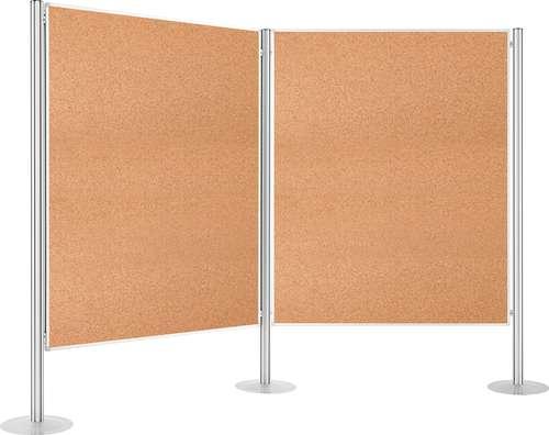 Präsentations-Wand/Raumteiler Set, kork 2 Tafeln