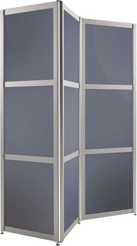 Faltstellwand 'Screen' 3-teilig Anthrazit satiniert, 610 x 24 x 1900 mm
