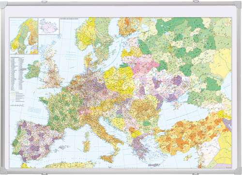 Kartentafel Europa pinnbar, beschreibbar
