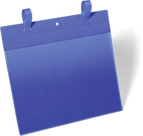 Blaue Gitterboxtasche für A4 Querformat