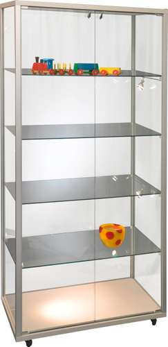Mobile Sicherheits-Glasvitrine 'Quadra V' 79 x 43 x 183,5 cm