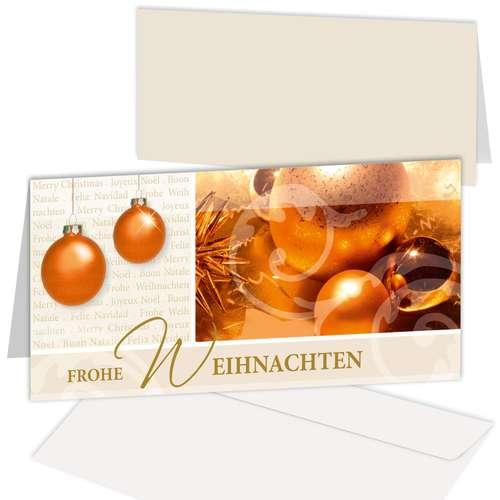 Weihnachtskarte 'Edle Weihnachts-Deko'