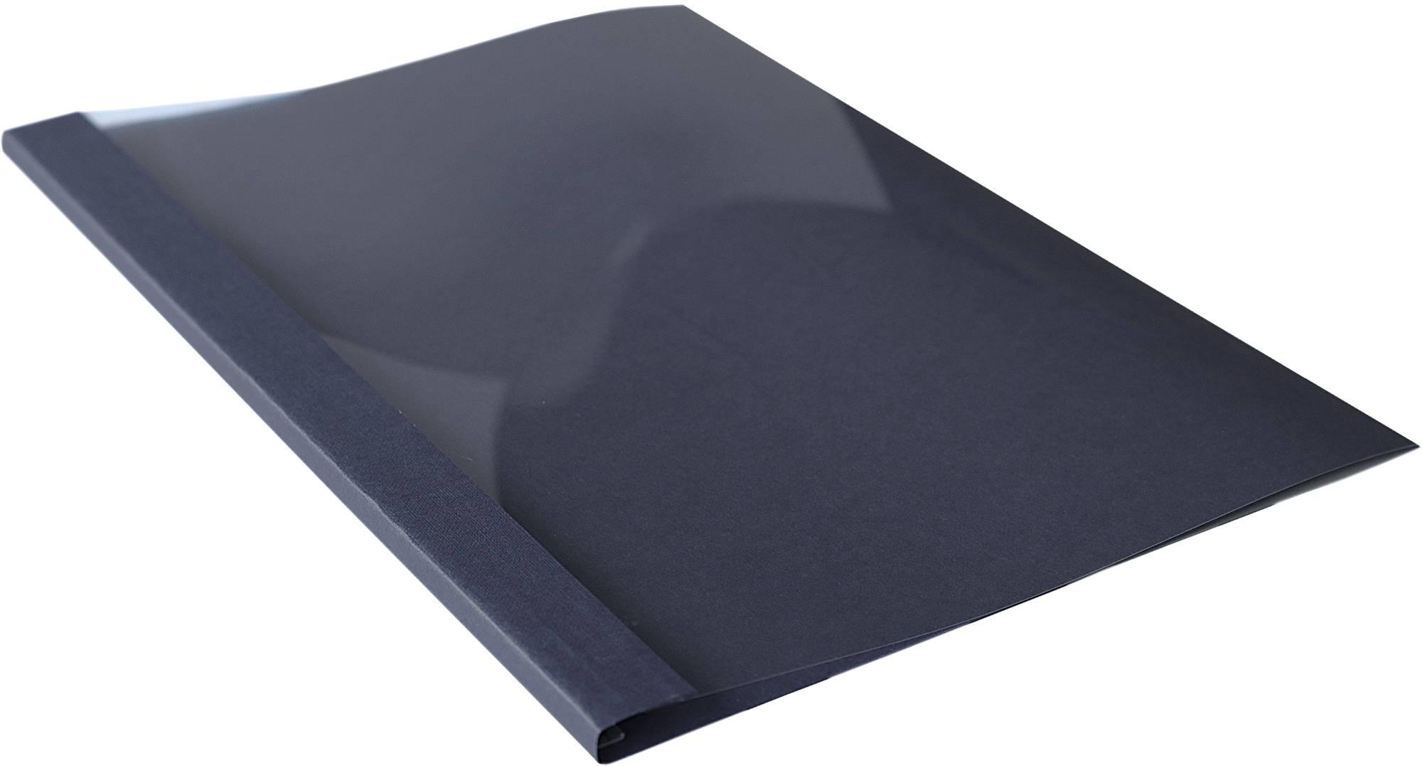 Buch-Bindemappe bis 35 Blatt mit transparenter Vorderseite in schwarz