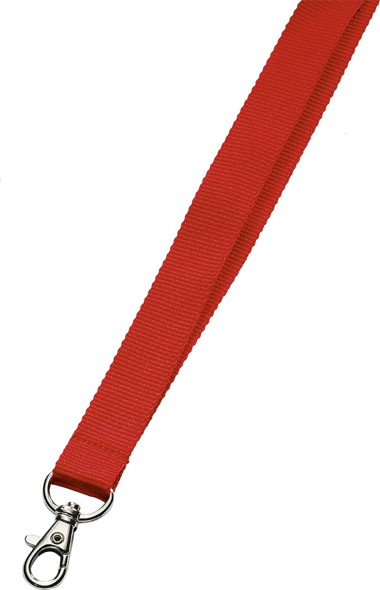 Rotes Umhängeband mit Karabinerhaken, 20 mm